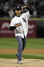 Barack Obama will throw out the first pitch at Nationals Park for the Washington Nationals home opener on April 13.
