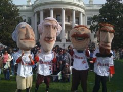 The Washington Nationals Racing Presidents at the White House Easter Egg Roll