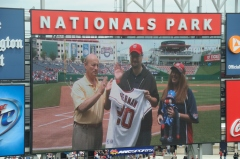 Stan Kasten with Mayor of Nats Town Jeff and Colleen Sherman