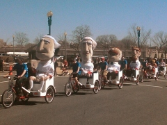 Nationals racing presidents arrive at Ringling Brothers Elephant Walk 2010