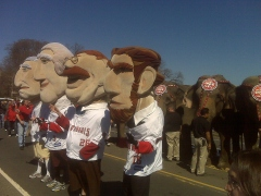 The Nationals racing presidents join the Ringling Bros. Elephant Walk