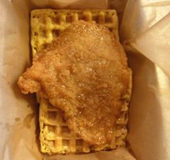 Nationals Park Chicken & Waffle sandwich