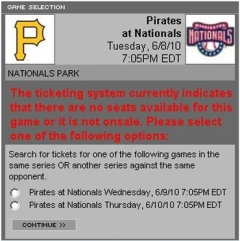 Strasburg Nationals debut tickets sold out