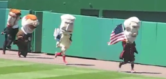 4th of July presidents race at Nationals Park