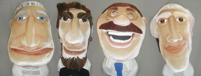 The Washington Nationals racing presidents got new costumes and a facelift courtesy of Randy Carfagno Productions