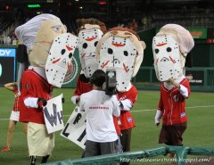 Nationals racing presidents as Jason for friday the 13th by Cheryl Nichols