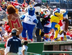 Mascots at Nationals Park