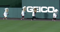 Nationals racing president Teddy Roosevelt dresses as a Cosmonaut