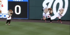 Teddy Roosevelt Cheats in Nationals Presidents Race
