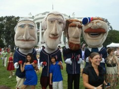 The Washington Nationals Racing Presidents visit the White House