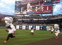 Washington Nationals Presidents Race - Honoring the Space Shuttle Atlantis