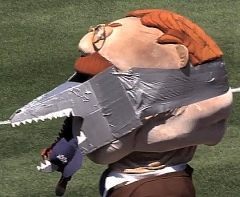 Washington Nationals Racing President Teddy Roosevelt dons a Shark mask for Shark Week