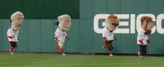 Washington Nationals Presidents Race - Let Teddy Win