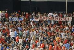 Phillies fans at Nationals Park - CBP South - Citizens Bank Park South