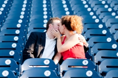 Matt and Jennie Engaged at Nationals Park - Photo by Emma Patti Photography