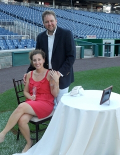 Nationals Park Marriage Proposal Jennie Kushlis Matt Hendrickson