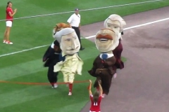 Presidents Race photo finish - Washington Nationals