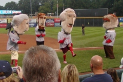 Washington Nationals Racing Presidents at Harrisburg Senators Metro Bank Park, photo by Gary Cave