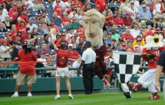 Thomas Jefferson wins the Washington Nationals presidents race