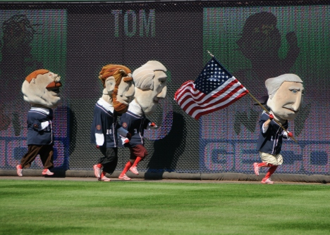 Washington Nationals Presidents Race on 9 11