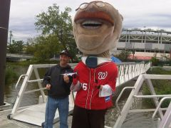 Teddy Roosevelt with Captain Andy - Nationals Park
