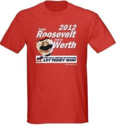 Teddy Roosevelt  Jayson Werth Bull Moose Party 2012 T-Shirt from LetTeddyWin.com