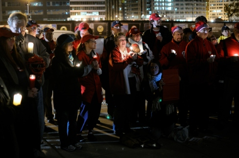 Vigil for Wilson Ramos at Nationals Park