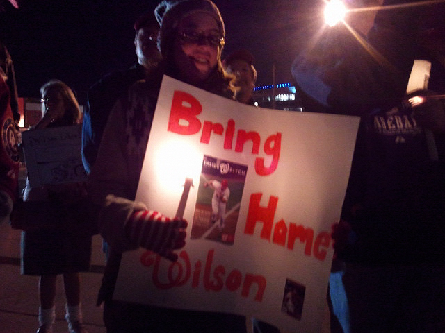 Wilson Ramos Nationals Vigil Sign