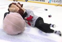 Racing presidents on ice skates