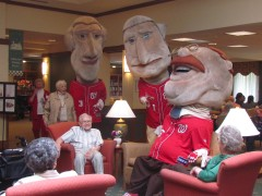 Nationals Racing Presidents visit the Greenspring Retirement Community