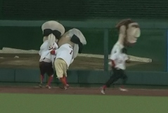 Washington Nationals Presidents Race: George Washington turns on Thomas Jefferson on Emancipation Day