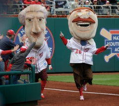 Washington Nationals presidents race Teddy Roosevelt Thomas Jefferson