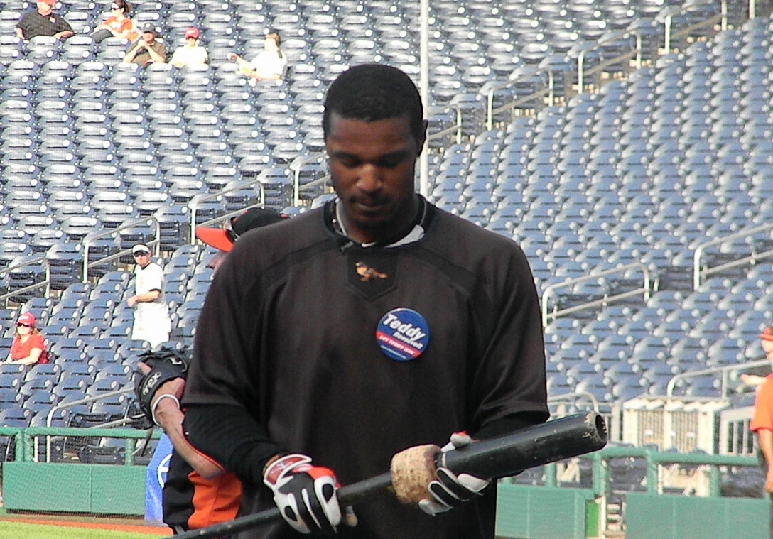 Baltimore Orioles Adam Jones Let Teddy Win