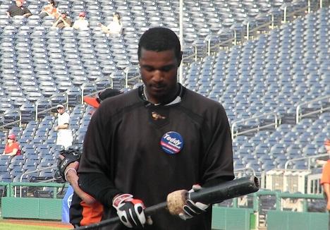 Baltimore Orioles Adam Jones Let Teddy Win