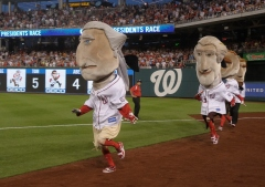 George Washington wins the presidents race at Nationals Park