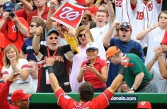 Washington Nationals Rubber Chicken Man Hugh Kaufman