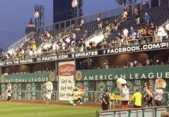 Racing Presidents vs Racing Pierogies at PNC Park, photo by Joseph Guevara