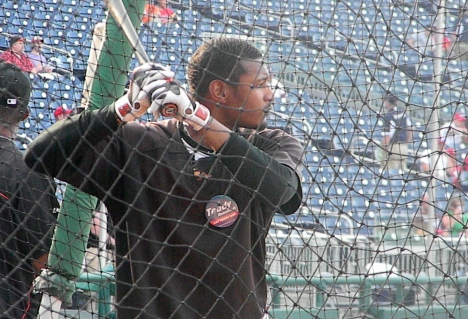 Orioles Adam Jones takes BP with presidents race Let Teddy win