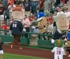 Racing presidents  Teddy Roosevelt sees Potato Pete pierogies Nationals Park