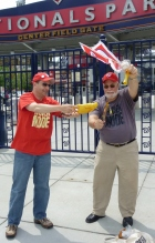 Washington Nationals Chicken Man Hugh Kaufman sacrificing a chicken
