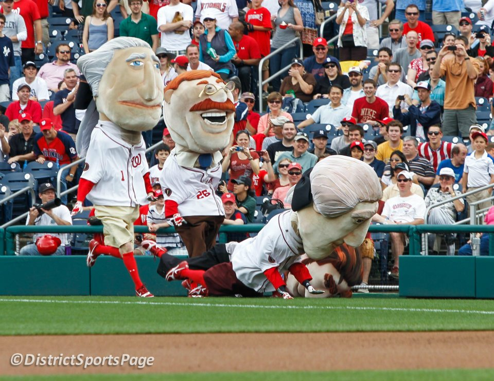 932d0180e George Washington takes two in the rain. Pierogies next.
