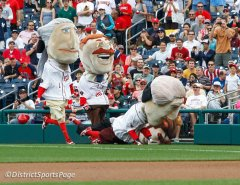 Washington Nationals Presidents Race by Cheryl Nichols