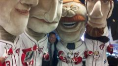 Mark Grace with the racing presidents - Photo by Teddy26Nats