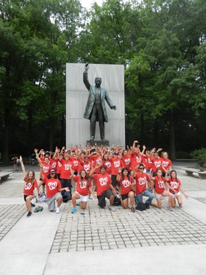 Hillwood Middle School visits Teddy Roosevelt before Nationals Park