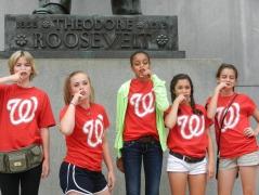 Hillwood School Teddy Roosevelt Mustache Fans
