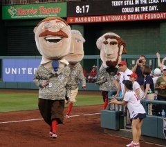 Nationals Racing Presidents in Military Uniforms