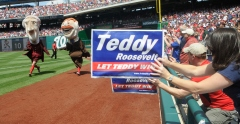 Presidents Race Teddy Roosevelt finish line Amanda Rykoff