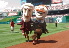 Nationals Presidents race Thomas Jefferson Cheats Shoves Teddy Roosevelt