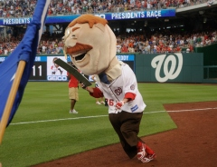 Washington Nationals racing president Teddy Roosevelt participates in the Nats tweetup