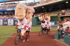 Nationals Presidents race on tandem bikes for 2